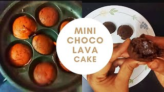 Mini Choco Lava Cake With 3 Ingredients Without Dark Compound, Cocoa Powder, oven - tamil