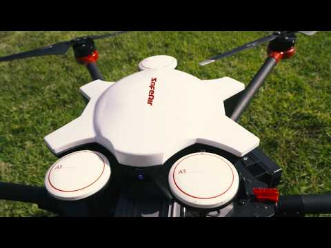 Parazero SafeAir Commercial Drone Safety System Matrice 600 Parachute