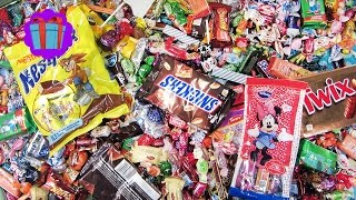 A Lot Of Candy And Surprise Eggs! New! A Lot Of Sweets, Twix, Snickers, Nesquik, Milky Way!