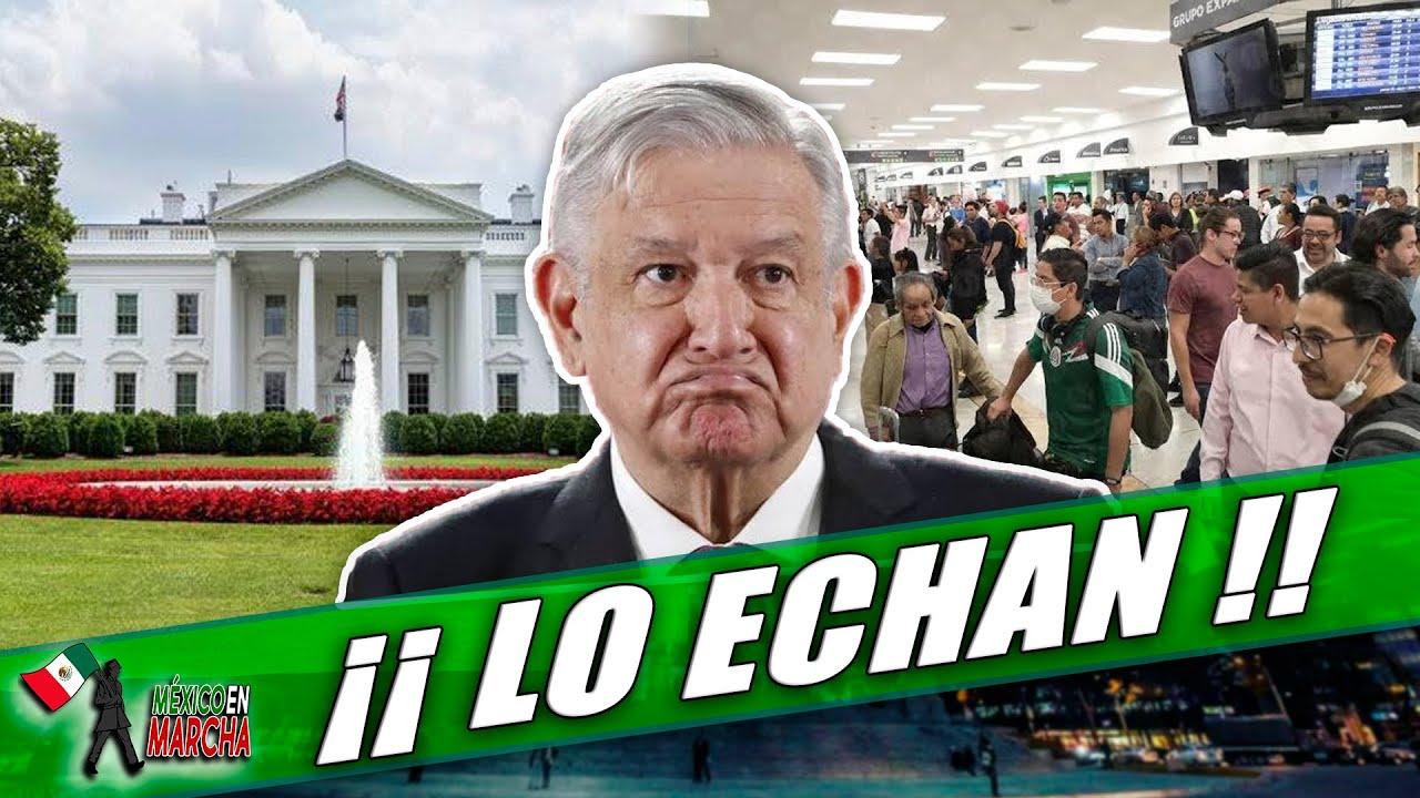 Por Viajar En Vuelo Comercial, Trumpotas Corre a AMLO De Casa Blanca y Lo Manda a Dormir a Embajada!