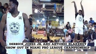 Derrick Jones Jr. and Antonio Blakeney SHOW OUT in Miami Pro league Championship Game🔥 Video