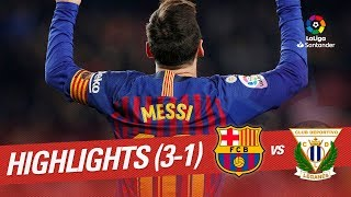 Highlights FC Barcelona vs CD Leganés (3-1)