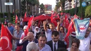 İzmir'de Demokrasi Yürüyüşü ve Nöbeti