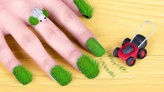 11 Weird Nail Hacks / Spring Nail Art Ideas