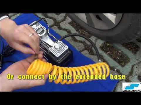 Compresor De Aire Para Auto 12v Y Conector A Bateria
