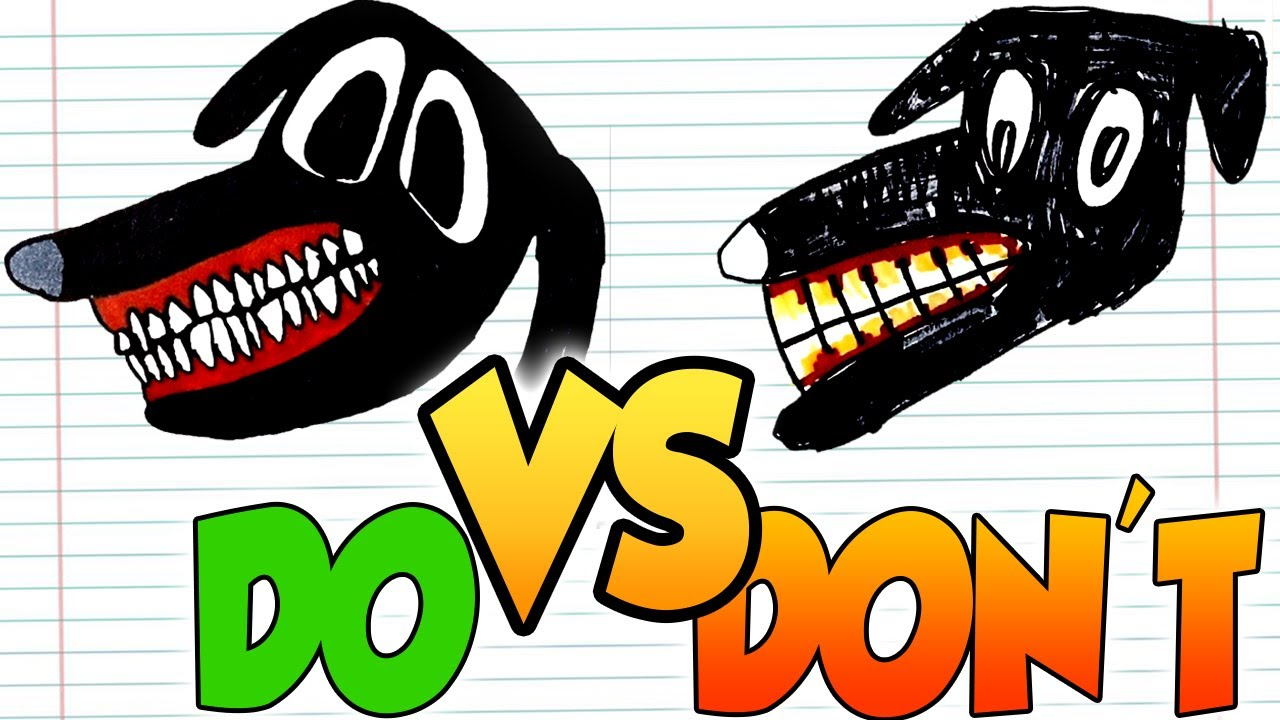 DOs & DON'Ts Drawing Cartoon Dog, Siren Head, Cartoon Cat (from Trevor's) In 1 Minute CHALLENGE!