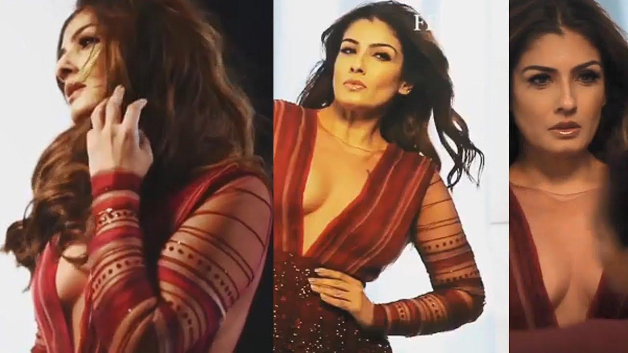 Raveena Tandon Sexy Video: actress Raveena Tandon Hot video wearing