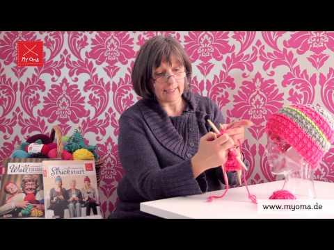Stricken Lernen Mit Den Omas - DIY Beanie Mütze Für Anfänger