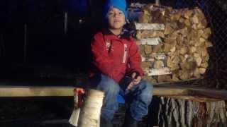 Vi lager kubbe fakkel til vinter mørket.