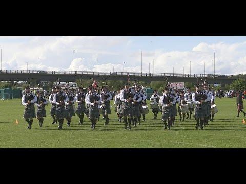 Scottish Power Pipe Band at the Paisley British Championships