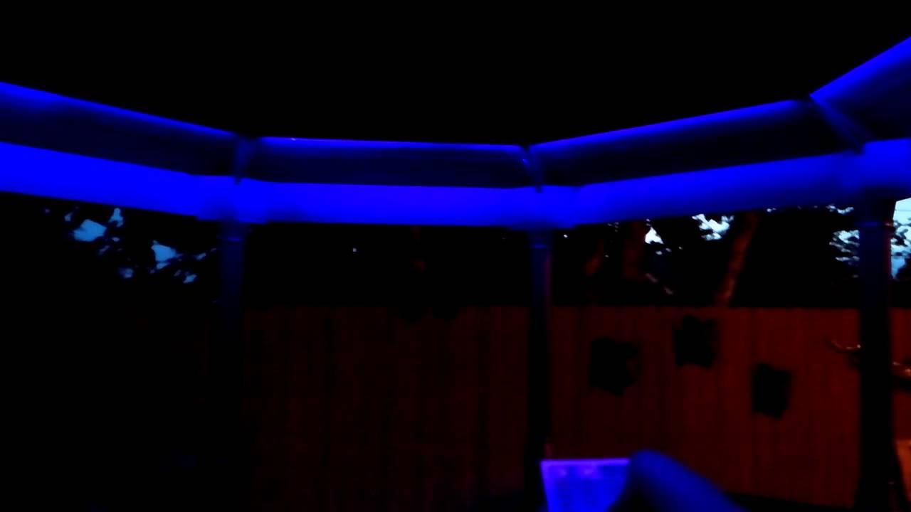 Rgb gazebo canopy led glow lights  YouTube