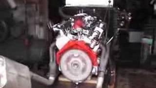57 chevy 350 engine test run