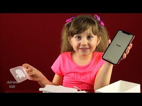 Распаковка Iphone 11 красный на 128 Gb