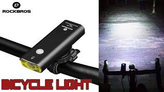 ROCKBROS Rechargeable Bicycle Light Cycling Riding Flashlight Waterproof Bike Headlight MTB