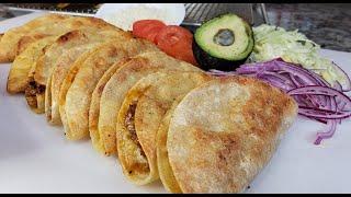 Crispy Chicken Tacos Recipe   Tacos Dorados Recipe   Simply Mama Cooks