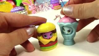 Двойной Чизбургер Гамбургер Медведь Вечеринка Животные Гамбургер Открытие Фаст-Фуд Игрушка Обзор