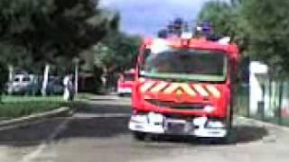 Pompier manoeuvre du CSP Molsheim