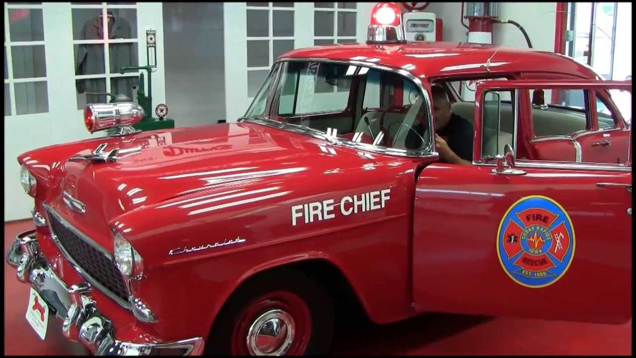 1955 chevy fire chief by duffy 39 s collectible cars youtube. Black Bedroom Furniture Sets. Home Design Ideas