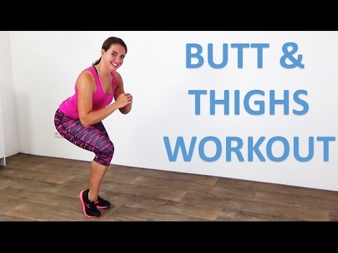 5 Minute Standing Butt & Thighs Workout – How to Get a Bigger Butt – Lift and Toning Exercises