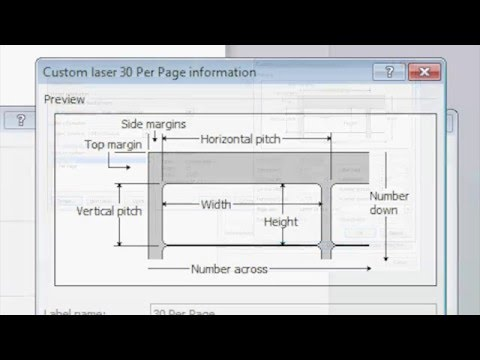 How To Make Custom Label Templates In Microsoft Word - YouTube