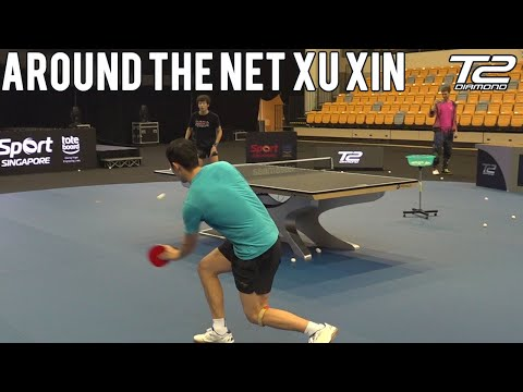 Xu Xin Around The Net Practice | T2 Diamond 2019 Singapore