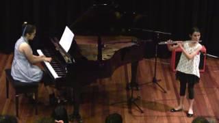 """Sasha (flute) & Tia (piano) perform """"The last rose of summer"""" Irish air"""