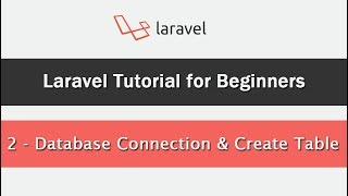 Laravel Tutorial for Beginners - Database Connection & Create Table
