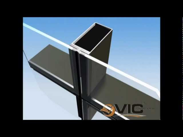 stick curtain wall system youtube