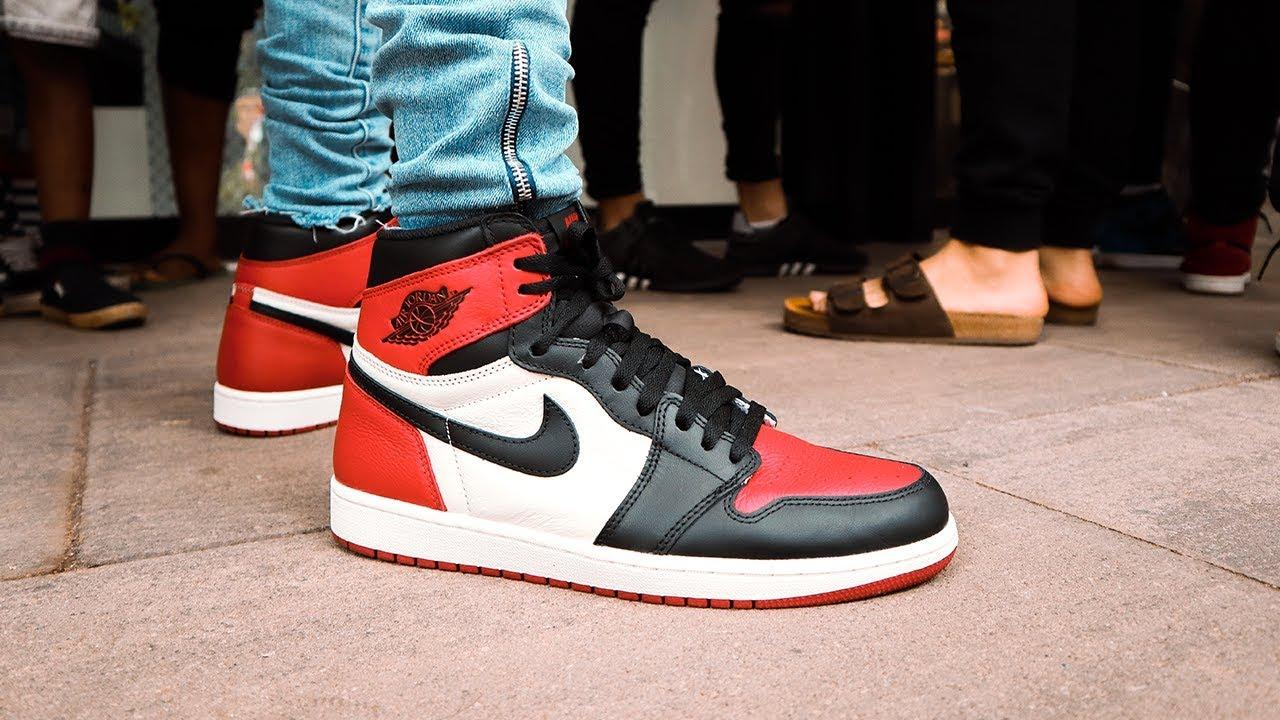 """7e1ea4ab7aa RELEASE REWIND: Air Jordan 1 """"Bred Toe"""" at Shelflife (Rosebank - JHB ..."""