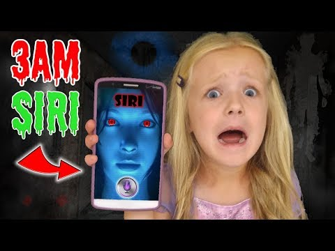 Do Not Talk To Siri At 3AM!! *OMG* So Scary!! Calling Siri On Facetime!