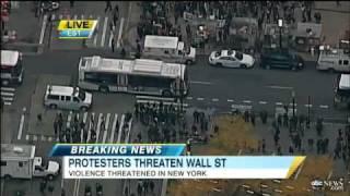 Occupy Wall Street Protestors Vow to Shut Down Wall Street, March on Brooklyn Bridge, In Subways