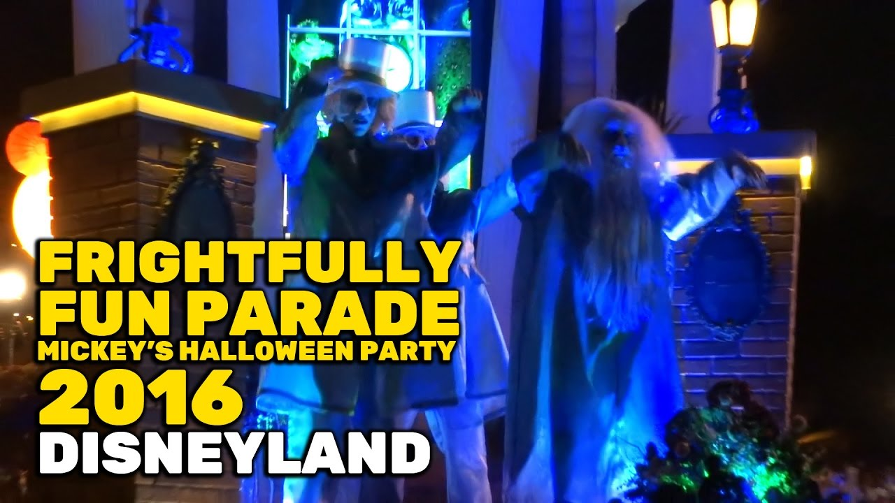 frightfully fun parade new full first performance at mickeys halloween party 2016 disneyland youtube