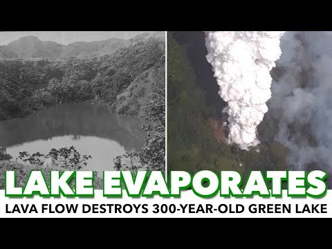 Lava Flow Evaporates 300-Year-Old Lake In Hawaii