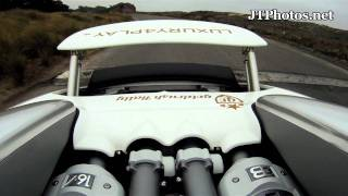 Bugatti Veyron convertible late for work