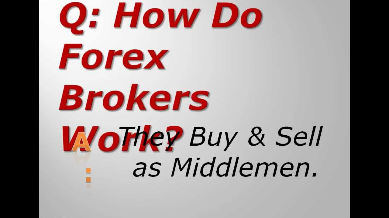 How forex brokers works
