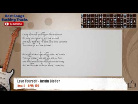 Guitar guitar tabs love yourself : Love Yourself - Justin Bieber Guitar Backing Track with scale ...
