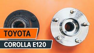 Comment remplacer des roulement de roues arrière sur une TOYOTA COROLLA E120 TUTORIEL | AUTODOC