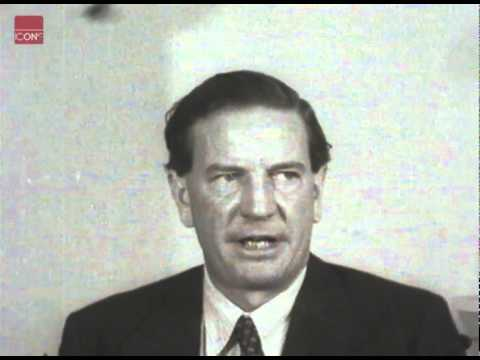 Kim Philby  the spymaster and traitor talking about the Burgess/MacLean affair