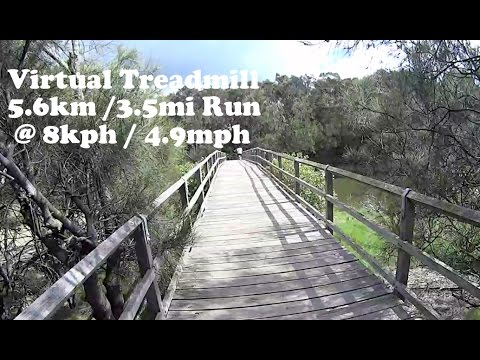 Virtual Treadmill Run 5.6km / 3.5mi @ 8kph / 4.9mph - Puckeys Estate Fairy Meadow, NSW Australia