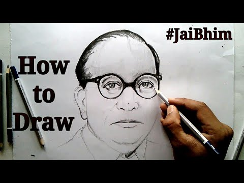 How to Draw Dr Bhimrao Ambedkar step by step tutorial for beginners !