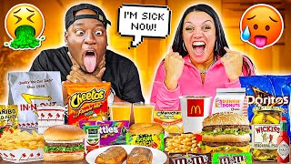 TRYING MY WIFE'S PREGNANCY FOOD CRAVINGS **BAD IDEA**