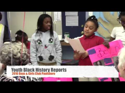 2016 Black History Program Youth Sharing Reports & Quotes