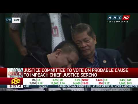 WATCH: House panel votes on Sereno impeachment complaint | 8 March 2018