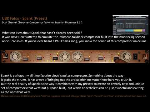 UBK FATSO SPANK Distressor Compression with Superior Drummer 3