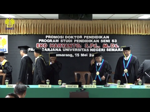 Ujian Terbuka Pascasarjana UNNES Eko Haryanto, S.Pd., M.Ds. 2018