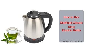 How to use Sheffield Cordless Electric Kettle HD in Hindi