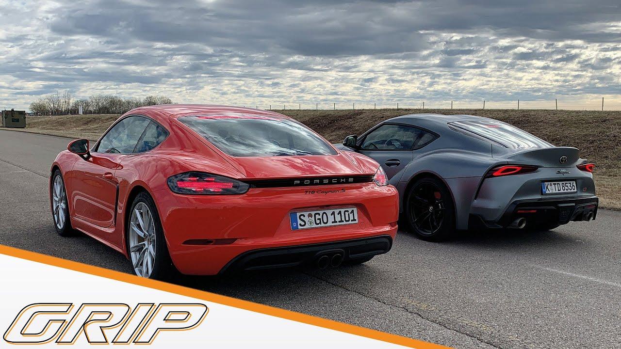 Deutschland-Japan-Duell | Porsche 718 Cayman S vs. Toyota GR Supra | GRIP