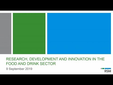 Research, development and innovation in the food and drink sector