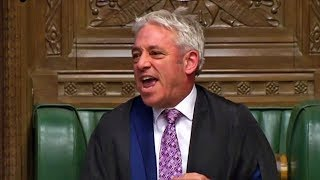 Speaker Bercow in furious exchange with MP on his last day