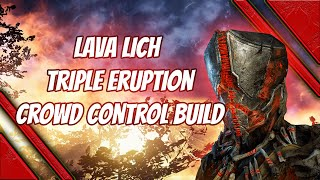 Outriders pyromancer lava lich coop crowd control build - triple eruption
